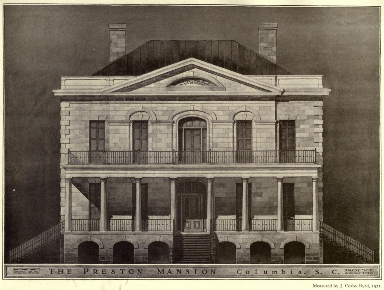 Elevation of the Preston Mansion, Columbia