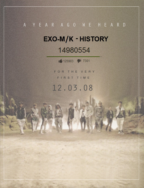 365 days with EXO »  History MV