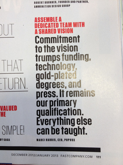 "Was asked by Fast Company what I learned in 2013.   I learned how lucky I am to work with such an amazing team. That ""team"" includes the people past and present who make POPVOX possible, the advisors and circle of friends and family that keep us going, our investors (many of whom are also family), our friends, our clients, and those thousands of people across the country who make up our community.  Feeling very grateful.  Thanks for the photo, LUXr peeps!"