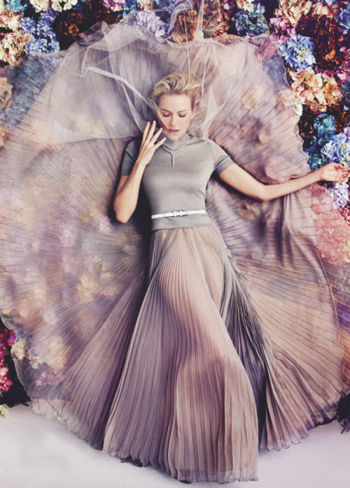naomi watts by will davidson | rochas top & skirt