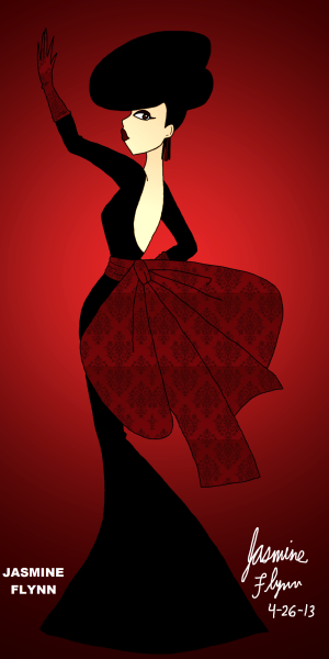 Red Bow Dress. a digital drawing by me, Jasmine Flynn :)