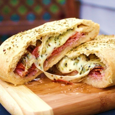 Food Porn Friday brings you a Stromboli today. Can you say Super Bowl treat?