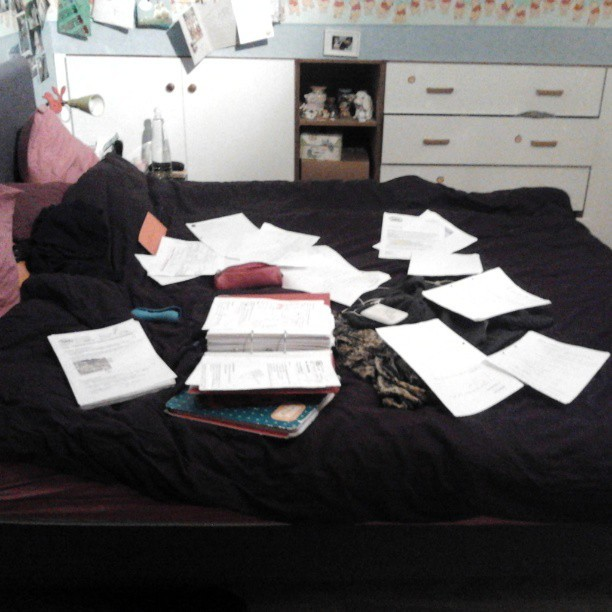 This is what happens when exams are coming and I turn out to be the one to have to hand in all my notes.. Hmm