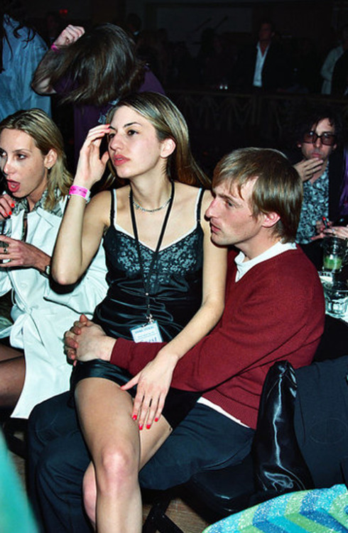 frickyeah1990s:  Spike Jonze and Sofia Coppola, also Tim Burton chillin in the background  YAS.