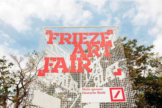 "must see | Frieze Art Week Frieze art fair is back in NYC. The weather is stunning and the days are packed with events. Below is the list of events we are attending. If some of you are out and about message us @CTSart and let us know what else we should swing by to see.  WEDNESDAY, MAY 8th 2013. 11:30 AM - 1 PM ZABLUDOWICZ COLLECTION BRUNCH (RSVP required)6 PM - 8 PM JEFF KOONS EXTRAVAGANZA, David Zwirner. 525 & 533 W. 19th St. THURSDAY, MAY 9th 2013.6 PM - 8 PM JEFF KOONS EXTRAVAGANZA, Gagosian 555 W. 24th St.(why not go twice… who else gets to show at two of the largest galleries in New York City simultaneously?) 9:30 PM - 11:30 PM NOMI RUIZ PERFORMANCE Liberty Theatre 234 W 42nd St. (RSVP required). thanx @Hyperallergic FRIDAY, MAY 10th 2013.oh, how we love art fair marathon day…10 AM - 2:00 PM NADA: OPENING PREVIEW4 PM - 6:00 PM PULSE NY OPENING DAY5 PM - 8:00 PM POOL: OPENING NIGHT6 PM - 9:00 PM GREENPOINT GALLERY NIGHTAFTER PARTY: CoCo66 (66 Greenpoint Ave.) from 9pm onward!SATURDAY, MAY 11th 2013.is there anything nicer than a boat ride to an island…?10 AM - 2:00 PM FRIEZE ART FAIRGallery Events we really want to get to:THEY MIGHT WELL HAVE BEEN REMNANTS OF THE BOAT, Calder Foundation, 180 Tenth Ave., New York.  WORKSHOP: ANOTHER ART WORLD IS POSSIBLE NURTUREart Gallery, 56 Bogart St, Brooklyn NY. LOS CARPINTEROS, Sean Kelly 475 Tenth AvenueSUNDAY, MAY 12th 2013.EXPO 1"" at MoMA and MoMA PS1 image courtesy Frieze New York and Linda Nylind."
