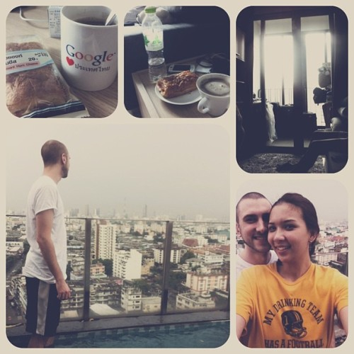 Morning from Thailand! @bitejayksbullet #coffee #breakfast #view #thailand