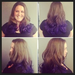 Purple Ombre Color- Alex