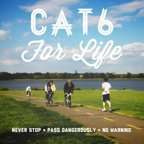 alexbaca:  cycleboredom:  CAT6 FOR LIFE!!  Pathletes