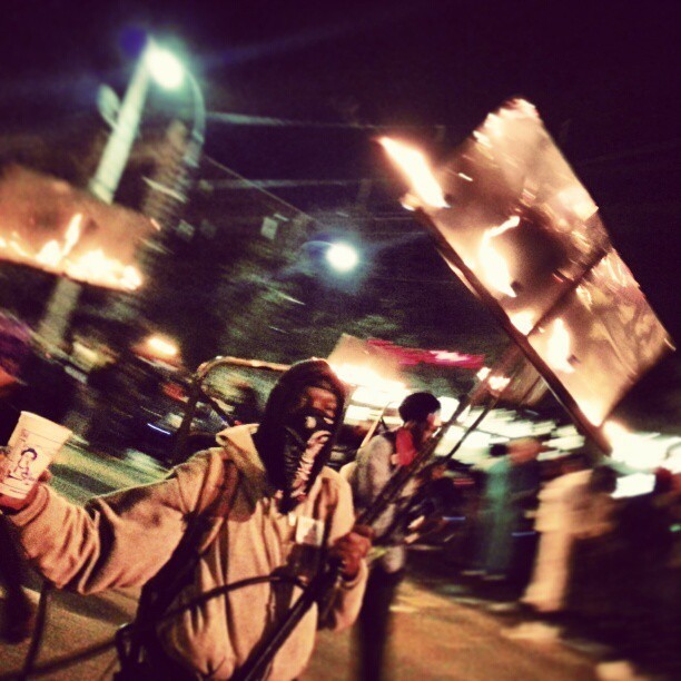 bigeasybartender:  Flambeux #nola #mardigras #carnival #parade  We recorded a segment on flambeaux for a 2006 Mardi Gras show; listen to it here.
