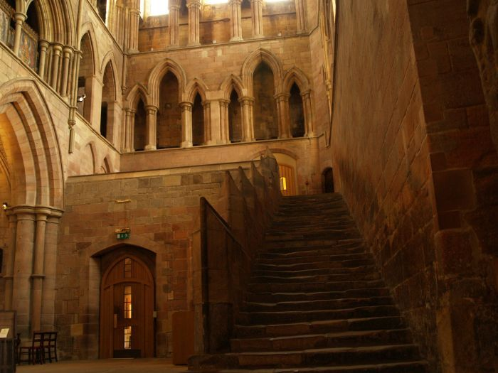 aenglaland:  The old stairs to the Monks Quarters at the Anglo-Saxon era Hexam Abbey