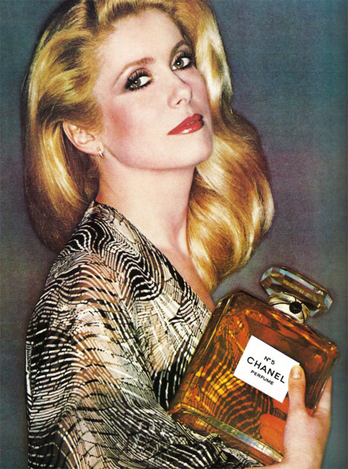 ladiesofthe70s:  Catherine Deneuve - the face of Chanel in the 70's. Sales soared!