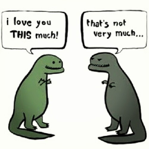 Haha that's not very much at all! #dinosaurs #dinolove #randominstagramming #smallarms #lotsoflove