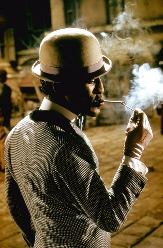 theyebies:  Sammy Davis Jr. in character as Sportin' Life on the set of Porgy and Bess, 1959.