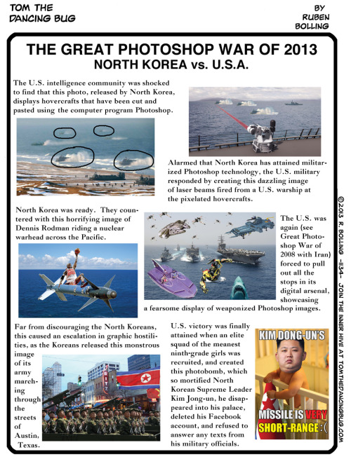 (via TOM THE DANCING BUG: The Great Photoshop War, USA vs. North Korea - Boing Boing)