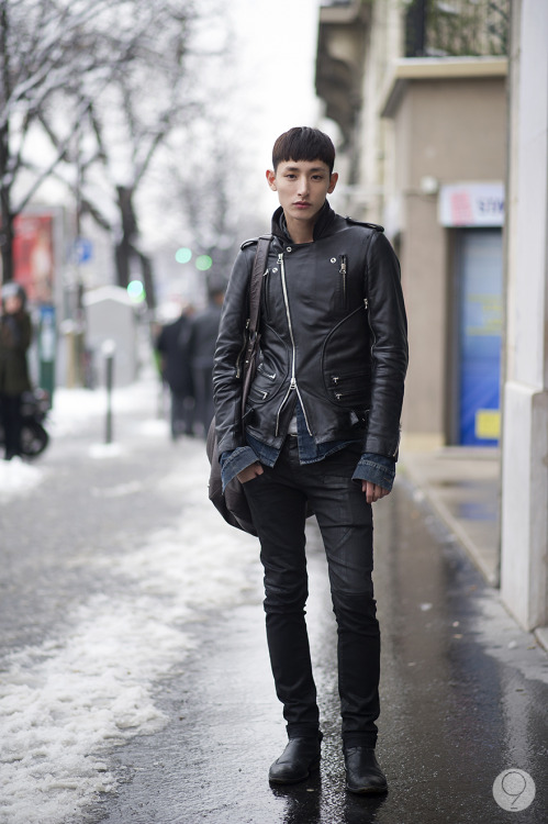 stylekorea:  Streetstyle: Lee Hyuk Soo by Koo Young Jun