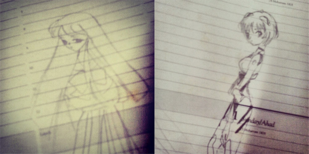 My drawings from 1999. That's….14 years ago. It's okay to laugh bro.