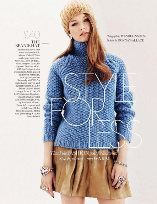 """Style For Less""Elle UK, January 2013Model : Shannon Brennan"