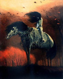 red-lipstick:  Zdzisław Beksiński (1929-2005, Polish) 1976 Paintings: Oil on Hardboard
