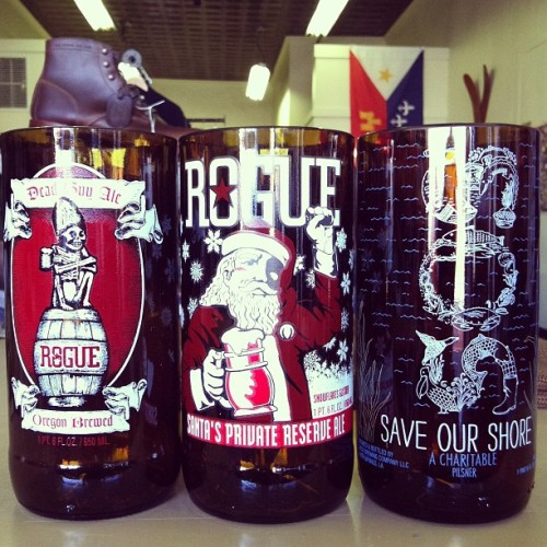 Dead Guy Ale, Santa's Private Reserve Ale, and Abita S.O.S. glasses now available to hold your liquid libations.