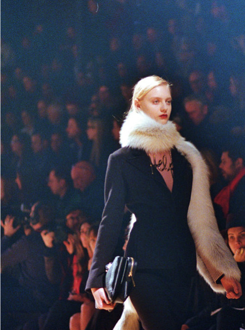 Nastya Kusakina at Lanvin F/W 2013 photographed by Schohaja