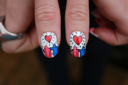 boomnails:  Keith Haring Valentines Boom Nails  Amazing!