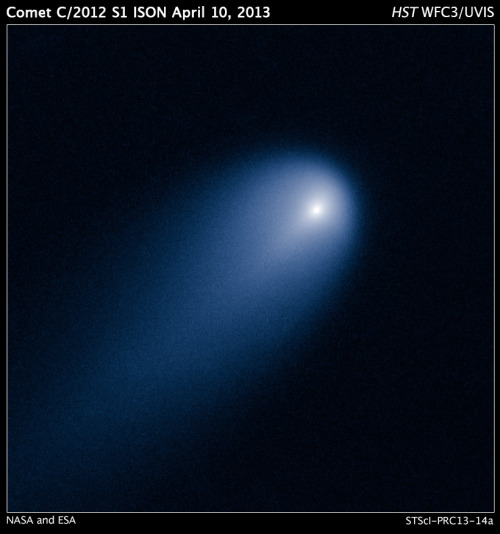 Hubble Captures Comet ISON, which *might* be brightly visible from Earth at the end of the year.