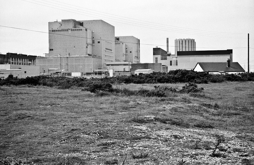 Up close - Dungeness nuclear power station  M2 | Elmar 50/2.8 | APX 100 | Diafine