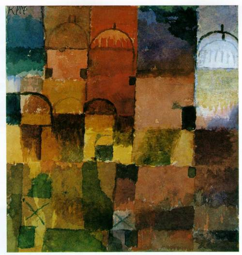 numanbaba:  Red and White Domes by Paul Klee