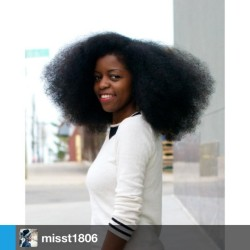 naturalhairdaily:  All that hair though! 👌misst1806 #naturalhair #teamnatural #afro