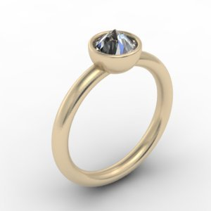 upside down diamond ring by J ABRECHT DESIGNS