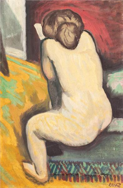 Nude with Book, 1909 by Iosif Iser   ᔥ wiki