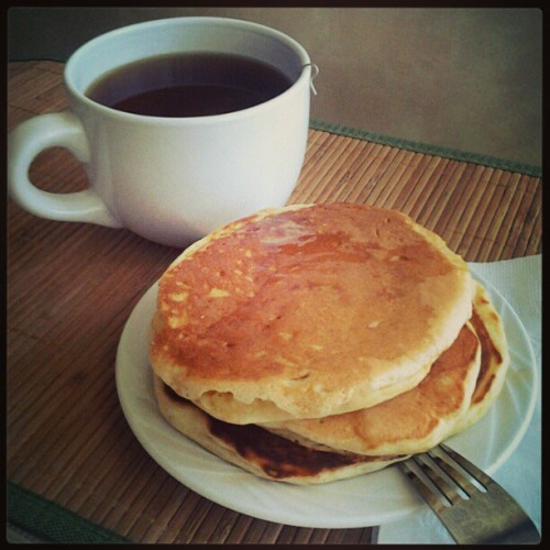 Homemade buttermilk #pancakes for #breakfast! #food