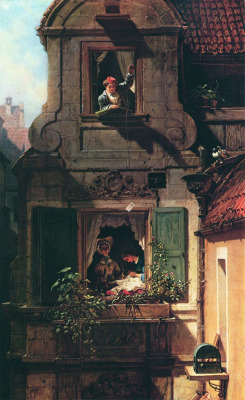 nevver:  Intercepted Love Letter, Carl Spitzweg