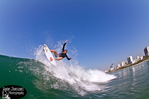 Jacko flying off the top this morning out at Umhlanga!