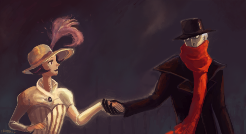 izmoroz-arts:  Painting I had way too much with. The characters are my Edna and Leonard.