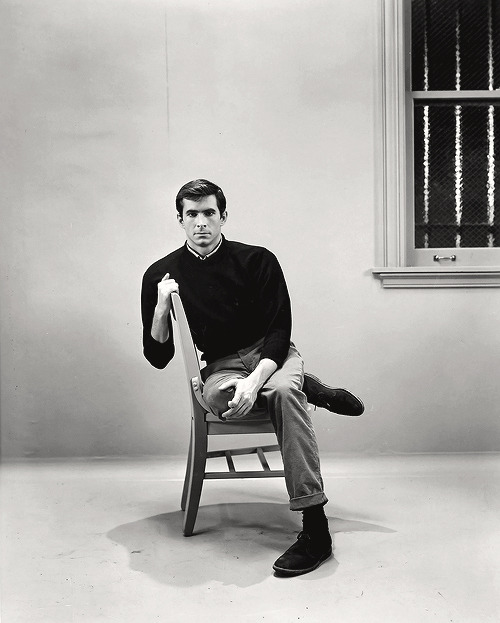 Paramount Studios still of Anthony Perkins as Norman Bates, 1960.