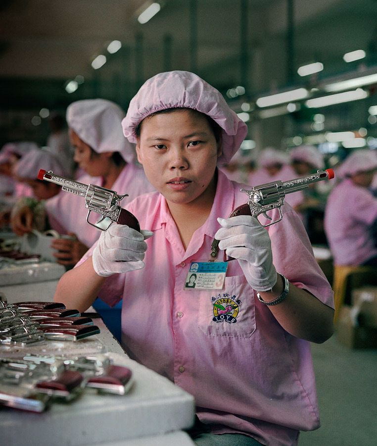 'The Real Toy Story' by Michael Wolf A photo series of Chinese factory workers and the toys they make.
