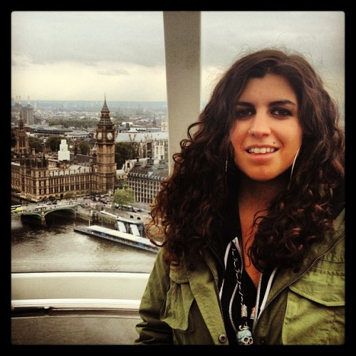 Me at zee London Eye overlooking the Houses of Parliament #london #londoneye #awesome (at The London Eye)