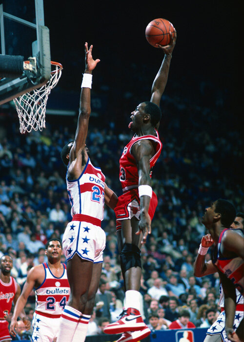 waitingherefornothingtocome:  Michael Jordan (Washington, 1985)
