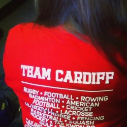 Team Cardiff ! #varsity (at Cathays)