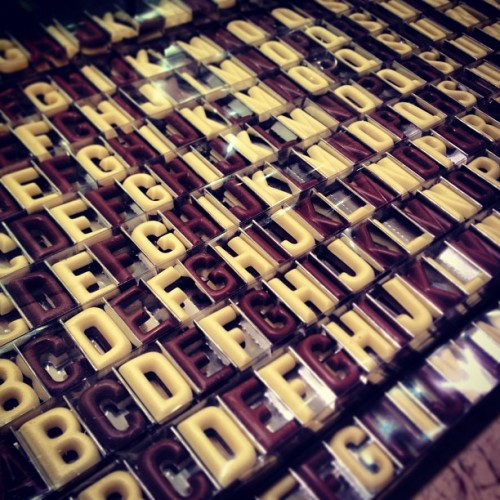 Chocolate Alphabets!! #foodie #fortnumandmason #chocolate #randomtypography  (at Fortnum & Mason)