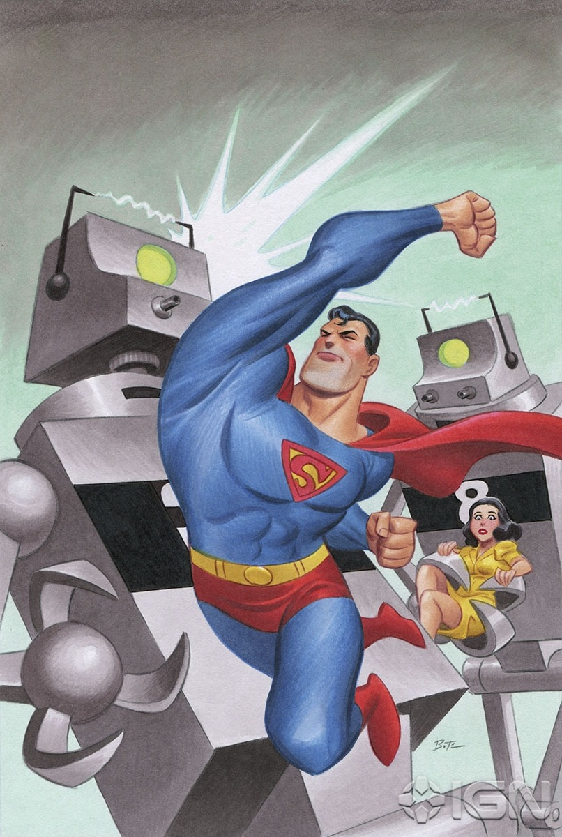 Superman Unchained Variant Cover by Bruce Timm