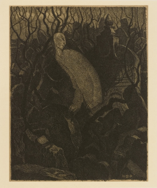 "venusmilk:  Hugo Steiner-Prag, lithography,From the series ""Golem"" 1916 (source)"