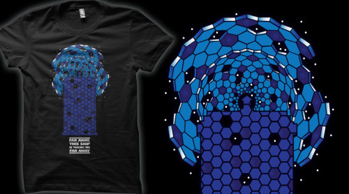 sophiehayes submitted:  Muse & Doctor Who crossover tee - please vote here to help get printed on Qwertee