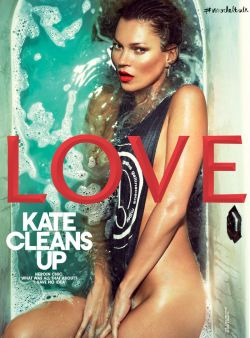 lushluxeandlovely:  Kate Moss covers Love No.9 spring/summer 2013. Photographed by Mert Alas & Marcus Piggott.