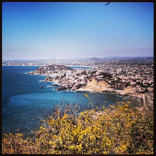 The view of Mazatlan from the world's second-tallest lighthouse. Tall as in altitude, not the actual height of the lighthouse, which was only 3 stories high haha…