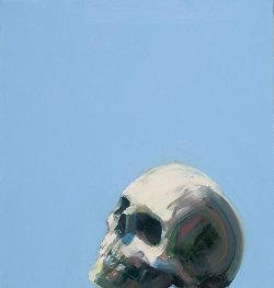 darksilenceinsuburbia:  Tomory Dodge. Skull, 2007. Oil on canvas, 40.6 x 38.1 cm.