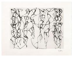 Brice Marden Cold Mountain Series, Zen Study 6, 1991 Etching and aquatint on Whatman paper 27 1/2 x 35 1/4 inches