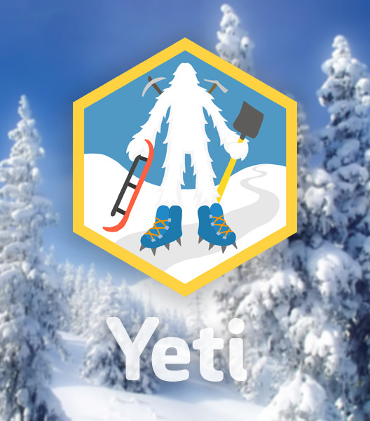 diy:   Become a Yeti A large, hairy creature resembling a human or bear, said to live in the snowy mountains everywhere. Handy in the powder, they are rumored to dwell in a network of snow caves, built by pick axes and primitive shovels. Their sled tracks connect each cave, and they live well where others shiver. Pursue this skill if you're interested in winter survival. A few sample challenges: Make Fire Starters Produce Maple Syrup  Invent a Snowball Launcher   I prepared this skill for DIY … winter camping is one of my favorite hobbies.