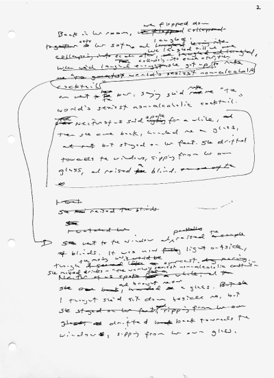 theparisreview:  A manuscript page from a novel in progress by Kazuo Ishiguro.